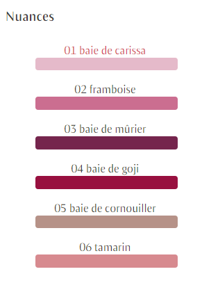 nuances gloss Dr. Hauschka maquillage